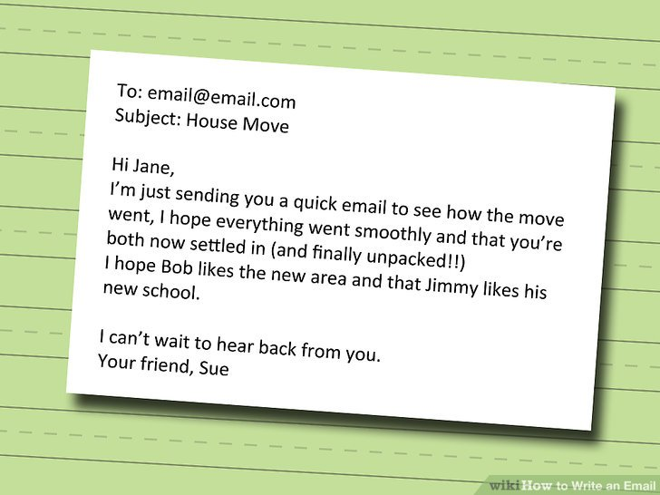 How to Write an Email (with Pictures) - wikiHow - how to write a