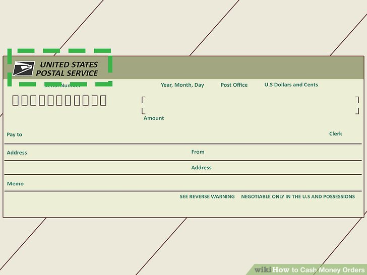 3 Ways to Cash Money Orders - wikiHow - postal order form