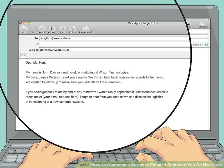 How To Compose A Business Email To Someone You Do Not Know