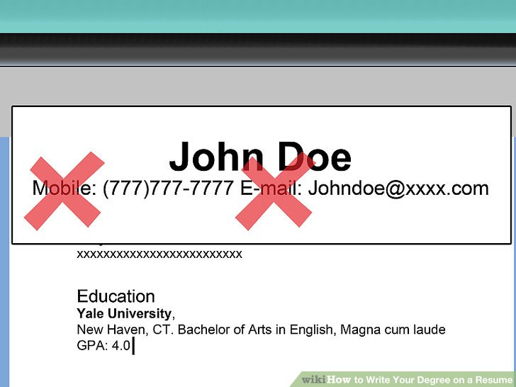 3 Ways to Write Your Degree on a Resume - wikiHow - degree on resume