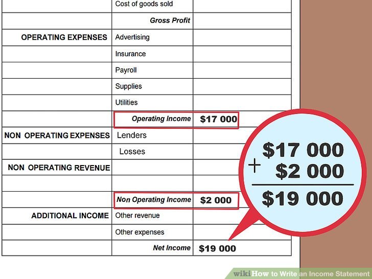 How to Write an Income Statement (with Pictures) - wikiHow