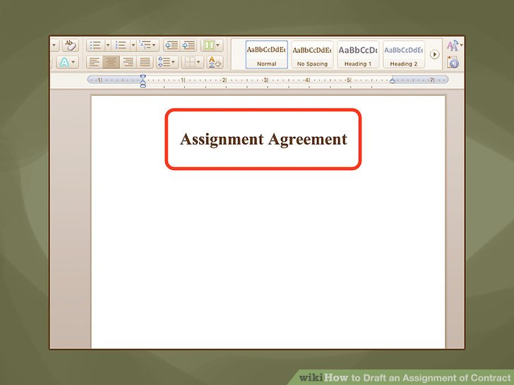How to Draft an Assignment of Contract 12 Steps (with Pictures) - assignment of contract