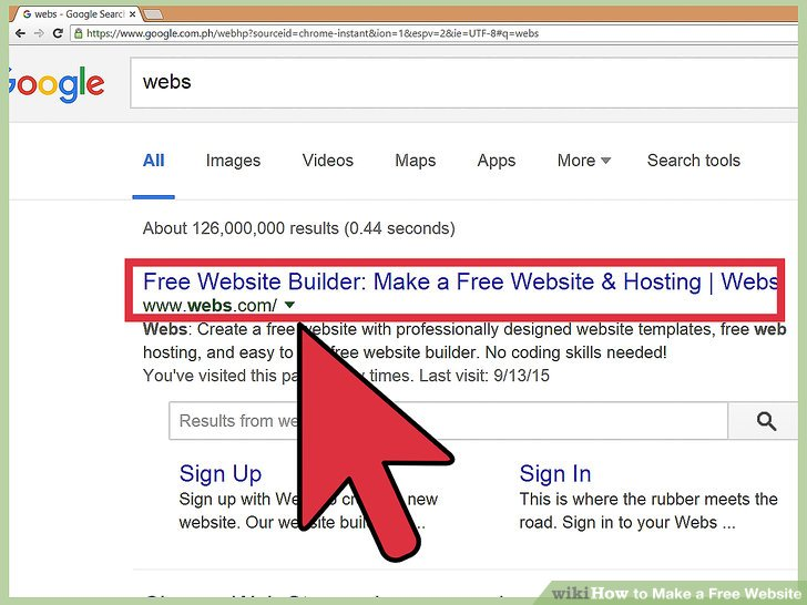 how to make a completely free website - Selol-ink