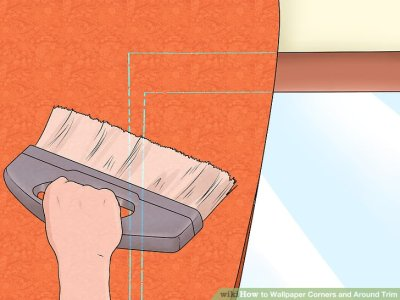 How to Wallpaper Corners and Around Trim: 11 Steps (with Pictures)
