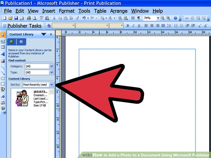 4 Ways to Add a Photo to a Document Using Microsoft Publisher - microsoft articles of incorporation