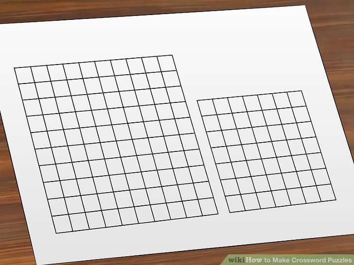 How to Make Crossword Puzzles 15 Steps (with Pictures) - wikiHow - blank crossword template