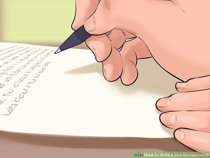 How to Write a Jury Excuse Letter 15 Steps (with Pictures)