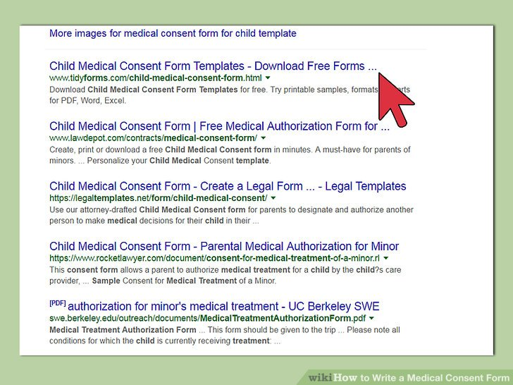 ... How To Write A Medical Consent Form (with Pictures)   WikiHow   Medical  Authorization ...  Medical Authorization Form Template