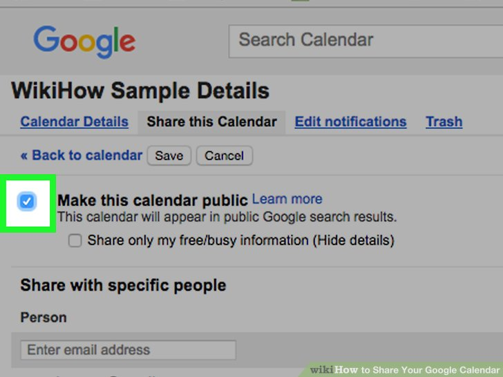 How to Share Your Google Calendar 14 Steps (with Pictures) - steps for creating a grant calendar