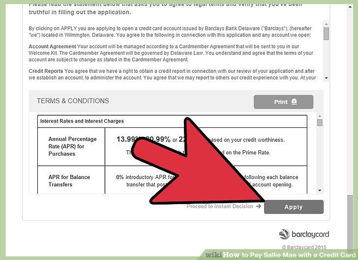 How to Pay Sallie Mae with a Credit Card 13 Steps (with Pictures)