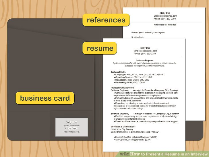 How to Present a Resume in an Interview 10 Steps (with Pictures)