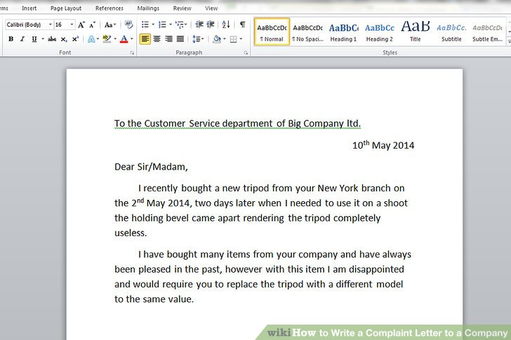 when writing a letter of complaint restaurant and hotel complaint