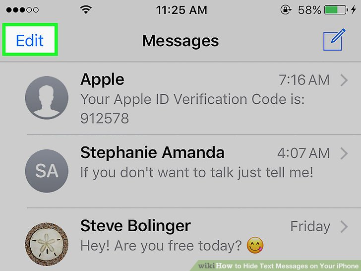 Iphone app to hide text messages
