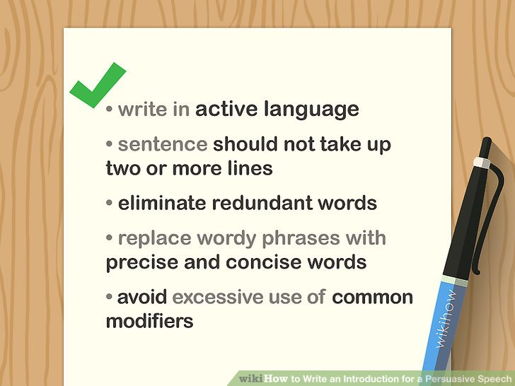 How to Write an Introduction for a Persuasive Speech 10 Steps