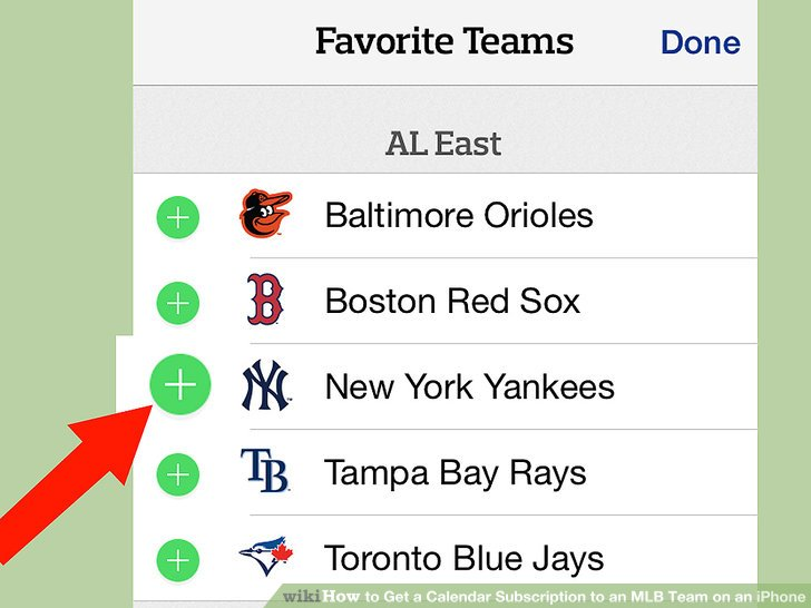 How to Get a Calendar Subscription to an MLB Team on an iPhone