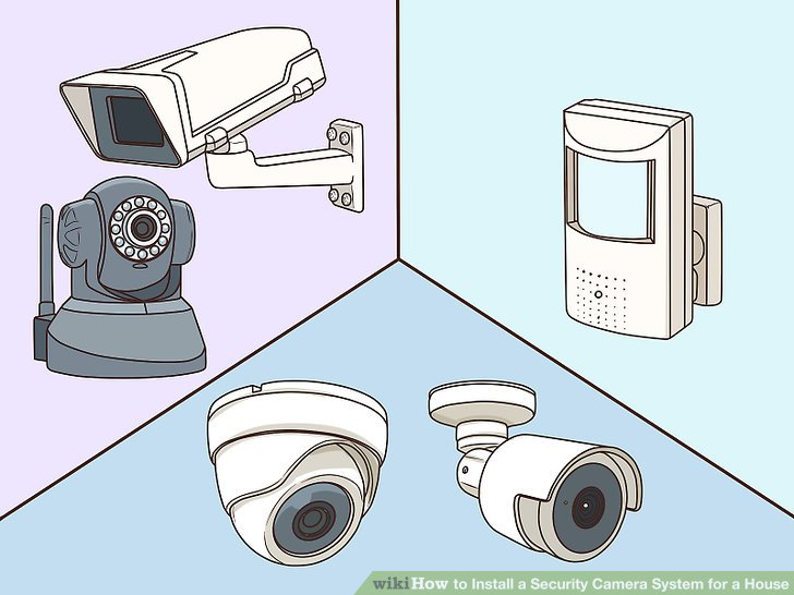 3 Ways to Install a Security Camera System for a House - wikiHow
