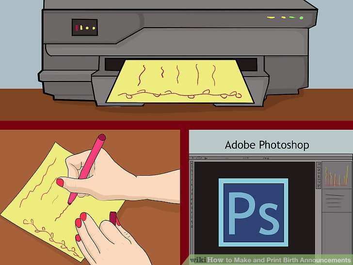 How to Make and Print Birth Announcements 8 Steps (with Pictures)