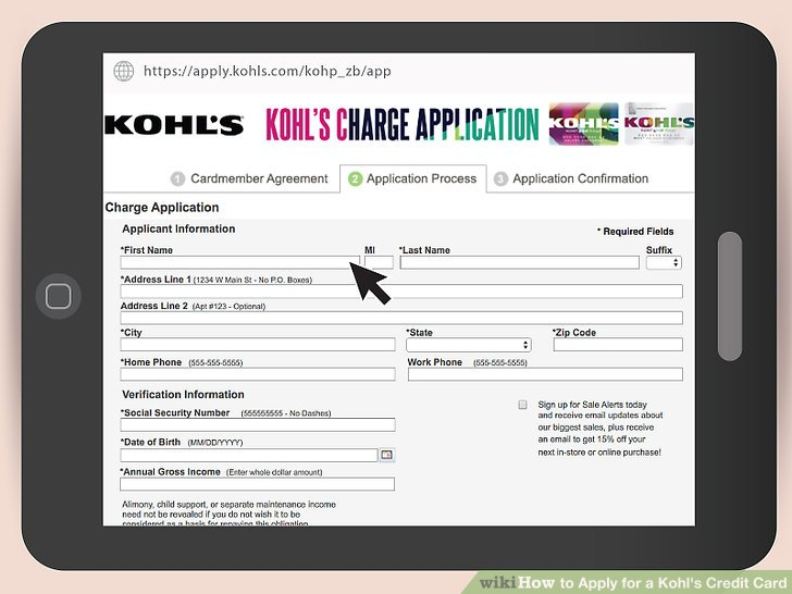 How to Apply for a Kohl\u0027s Credit Card 10 Steps (with Pictures)