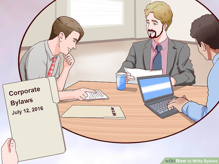 How to Write Bylaws (with Pictures) - wikiHow - Club Bylaws Example