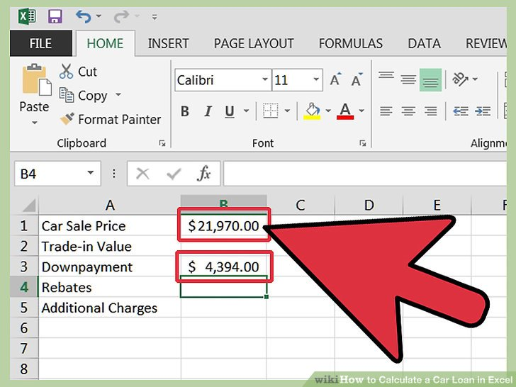 How to Calculate a Car Loan in Excel 10 Steps (with Pictures)