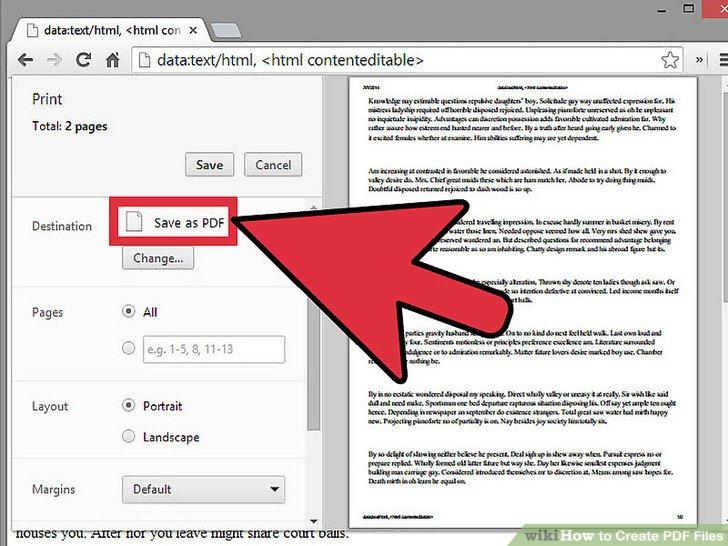 how to make a pdf file