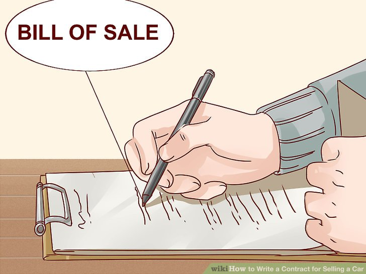 Expert Advice on How to Write a Contract for Selling a Car - selling a car bill of sale