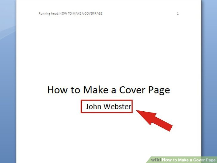 6 Ways to Make a Cover Page - wikiHow