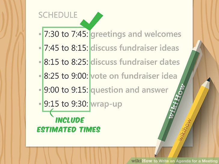 How to Write an Agenda for a Meeting (with Sample Agendas)