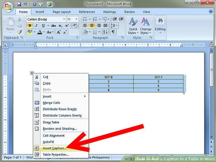 How to Add a Caption to a Table in Word 8 Steps (with Pictures)
