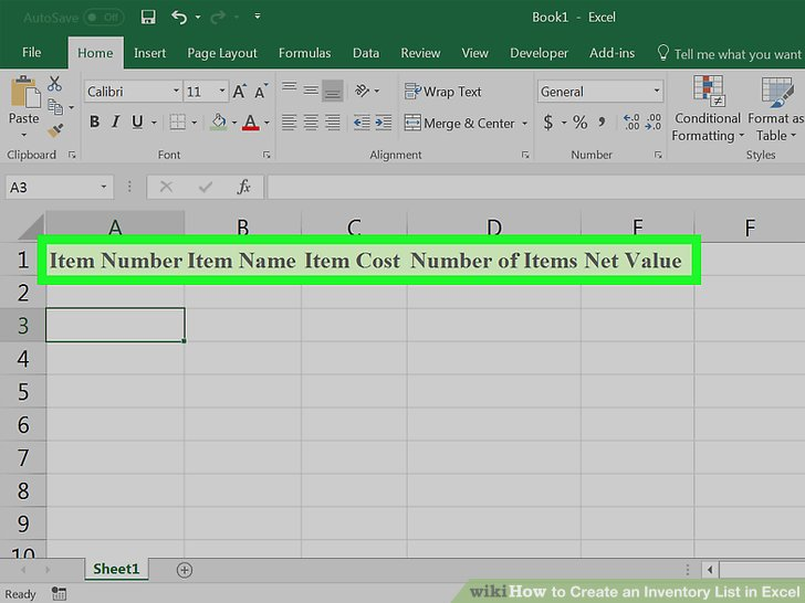 how to create an inventory database in excel - Canasbergdorfbib