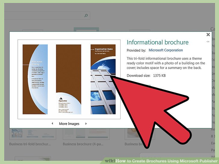 How to Create Brochures Using Microsoft Publisher 11 Steps - create tri fold brochure