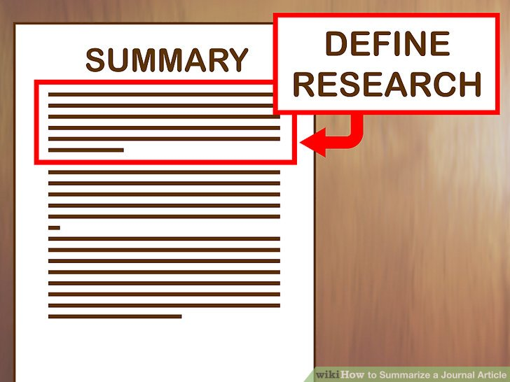How to Summarize a Journal Article (with Examples) - wikiHow