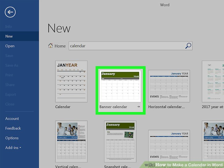 how to make calendars in word - Juvecenitdelacabrera