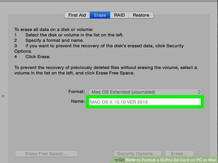 How to Format a GoPro Sd Card on PC or Mac 15 Steps