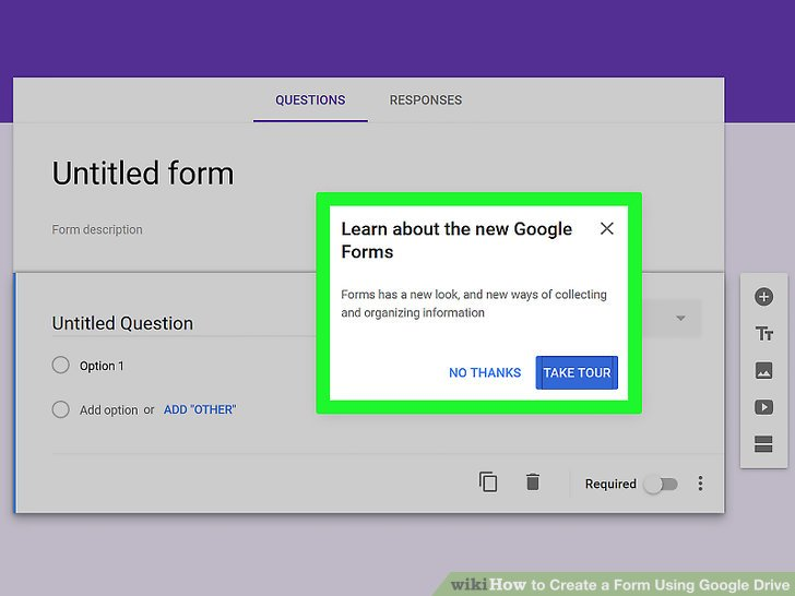 How to Create a Form Using Google Drive (with Pictures) - wikiHow - how to create call log template
