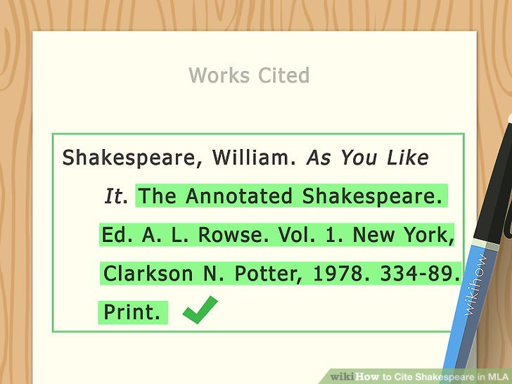 3 Ways to Cite Shakespeare in MLA - wikiHow