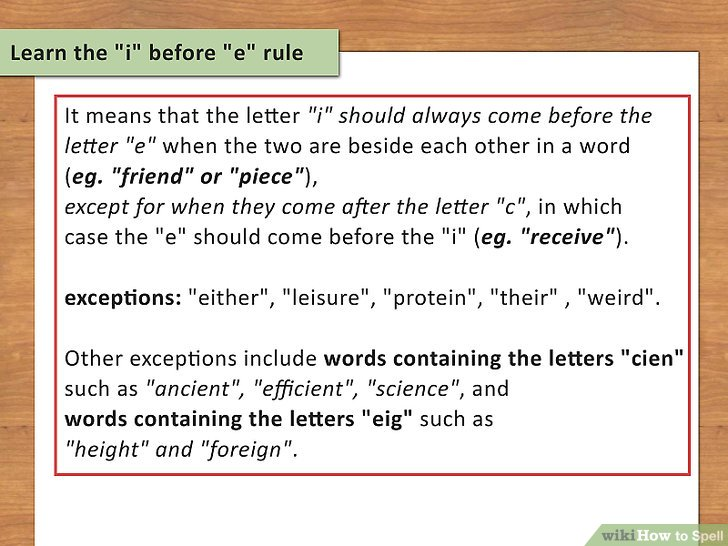 How to Spell Easy Rules and Guidelines - wikiHow - word letter
