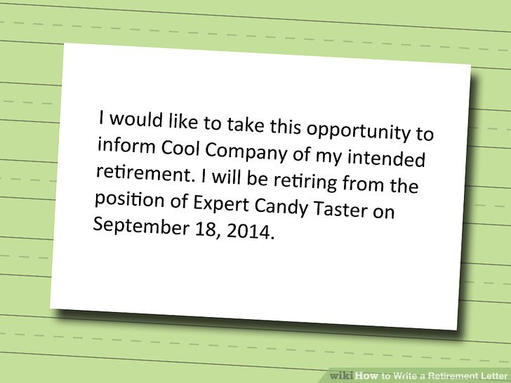 How to Write a Retirement Letter 14 Steps (with Pictures)