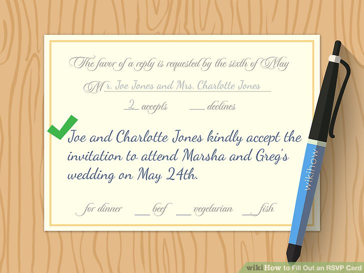 How to Fill Out an RSVP Card 9 Steps (with Pictures) - wikiHow