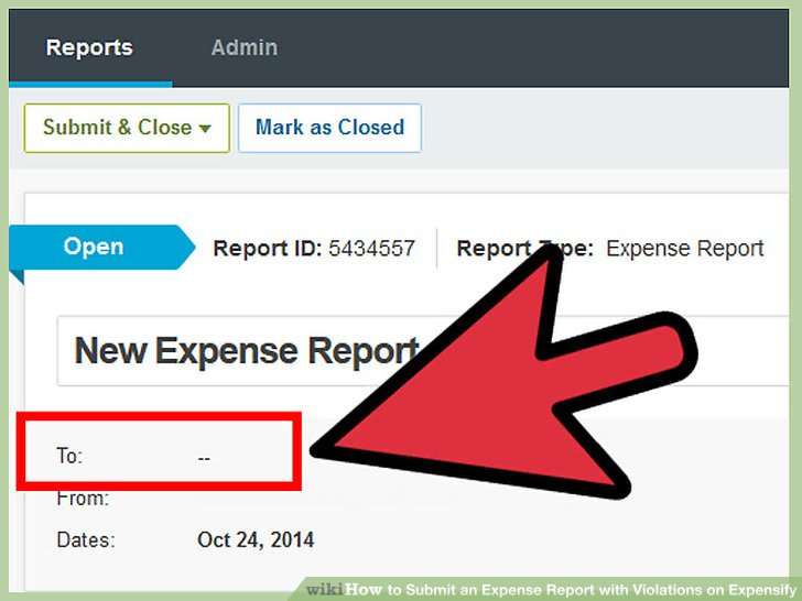 How to Submit an Expense Report with Violations on Expensify - expense report