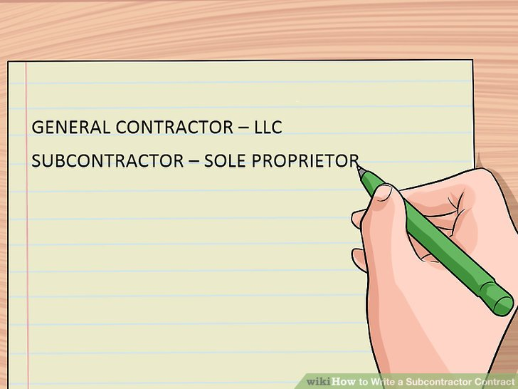 How to Write a Subcontractor Contract 13 Steps (with Pictures)