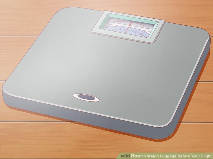 How to Weigh Luggage Before Your Flight 14 Steps (with Pictures) - how would you weigh a plane without scales