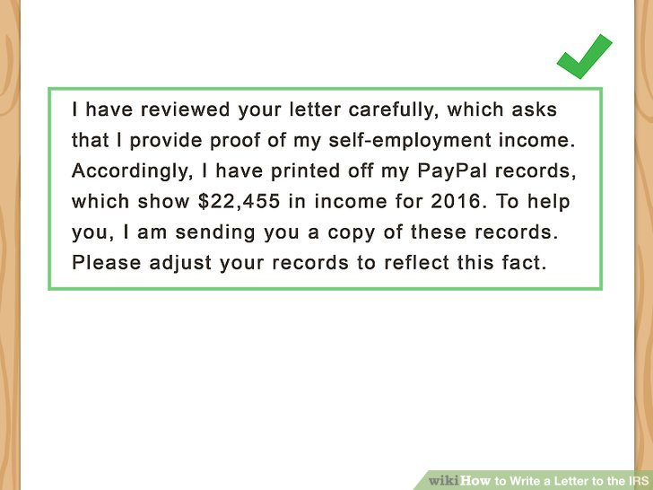 3 Ways to Write a Letter to the IRS - wikiHow
