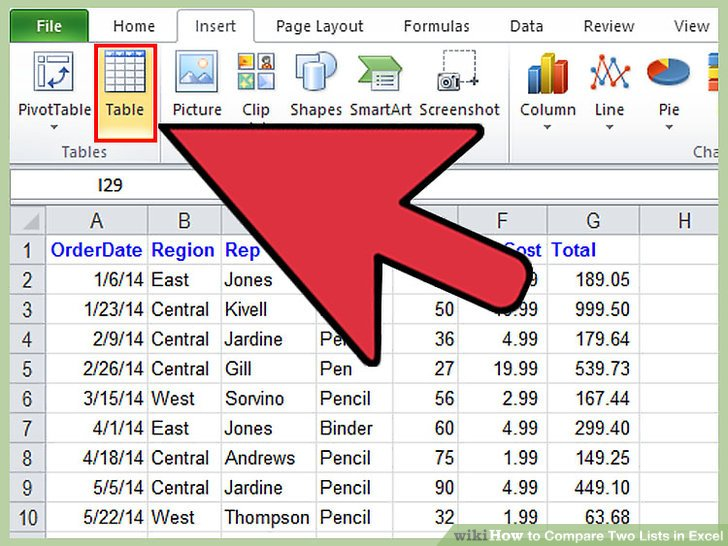 How to Compare Two Lists in Excel 11 Steps (with Pictures)
