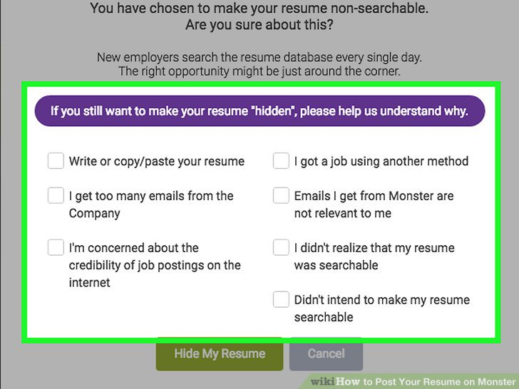 How to Post Your Resume on Monster 15 Steps (with Pictures) - monster resume search