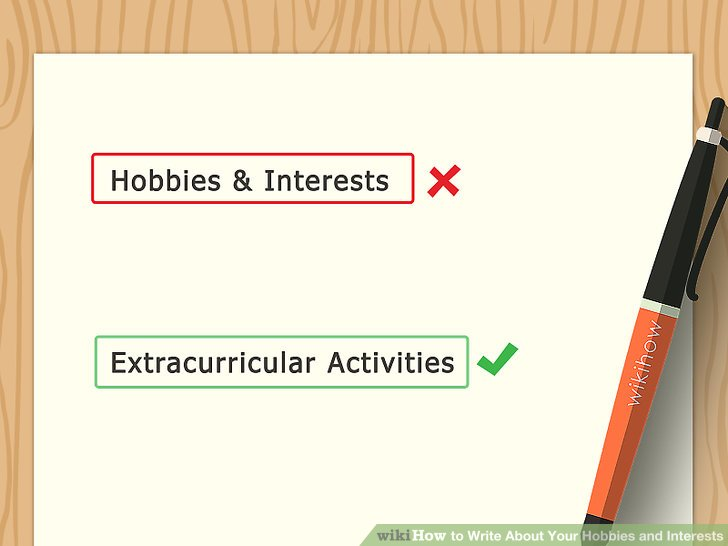 hobbies to put on a resume