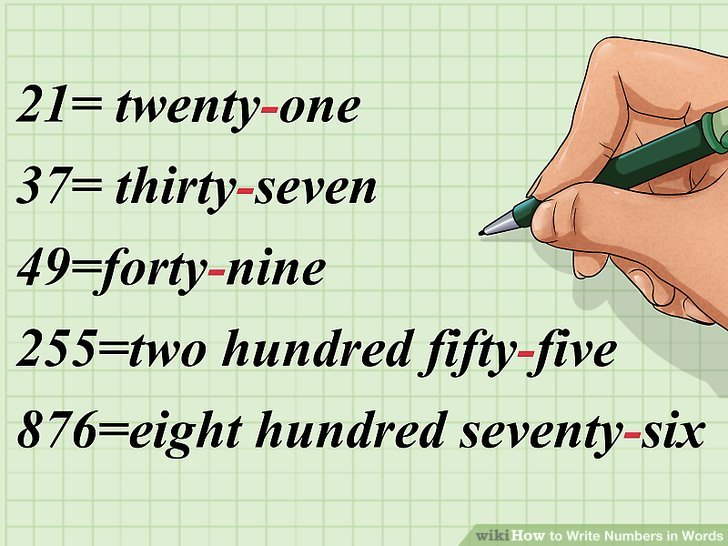How to Write Numbers in Words 13 Steps (with Pictures) - wikiHow - Numbers In Writing