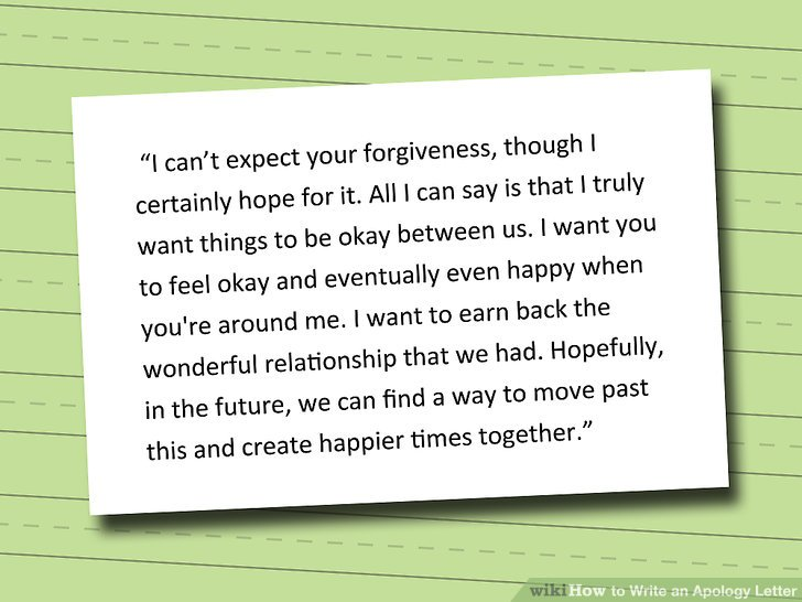 How to Write an Apology Letter 15 Steps (with Pictures) - wikiHow - format of apology letter