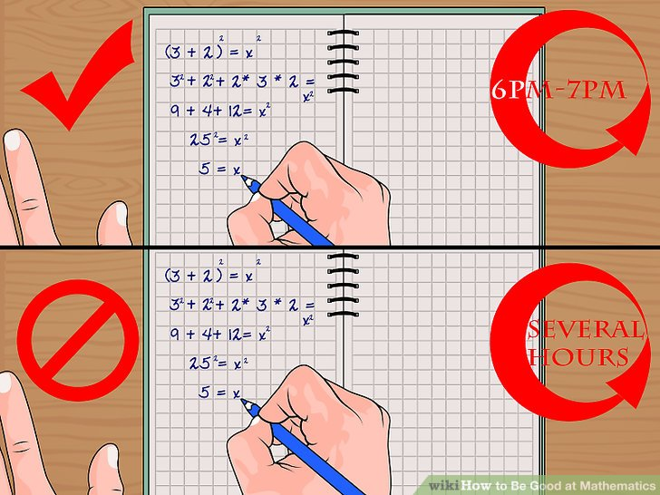 How to Be Good at Mathematics (with Pictures) - wikiHow