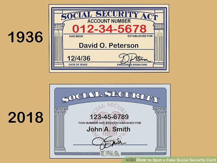 3 Ways to Spot a Fake Social Security Card - wikiHow - fake social security card template download
